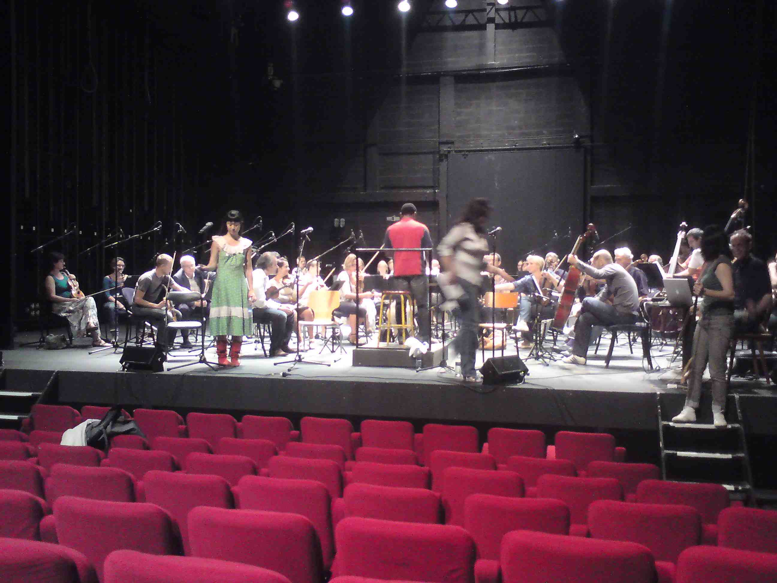 rehearsing with the Bordeaux Symphony Orchestra:Kwame Ryan (small)